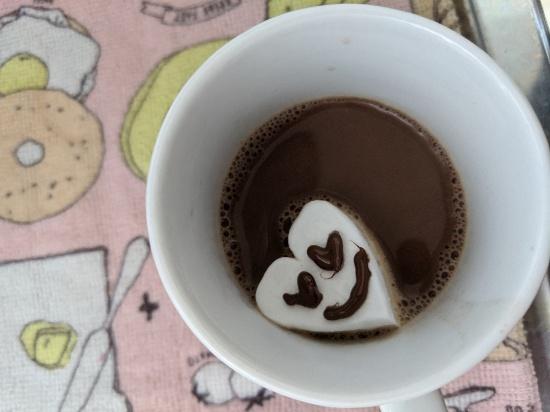 余ったチョコ、マシュマロの使い道、コーヒーとチョコ、マシュマロ