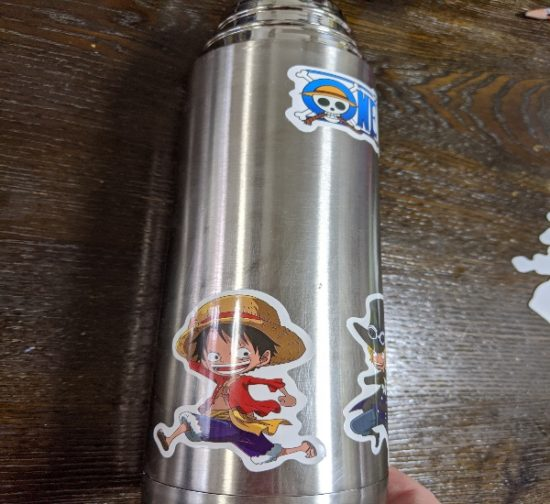 水筒,リメイク,防水ステッカー