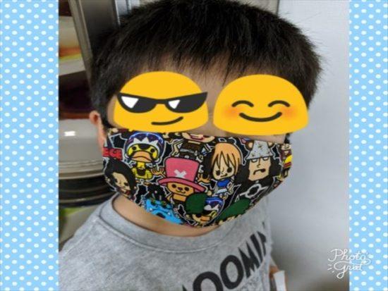 手作り,子供マスク,ハンカチマスク,立体マスク