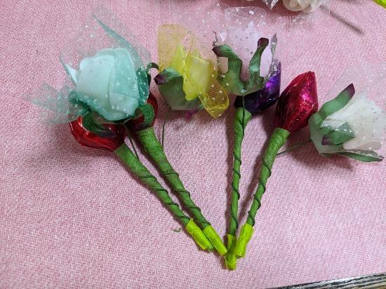 ばらまきお菓子,ホワイトデー,子供,手作りお菓子,お花のキスチョコ