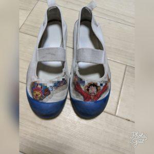 1年履いた上靴デコ