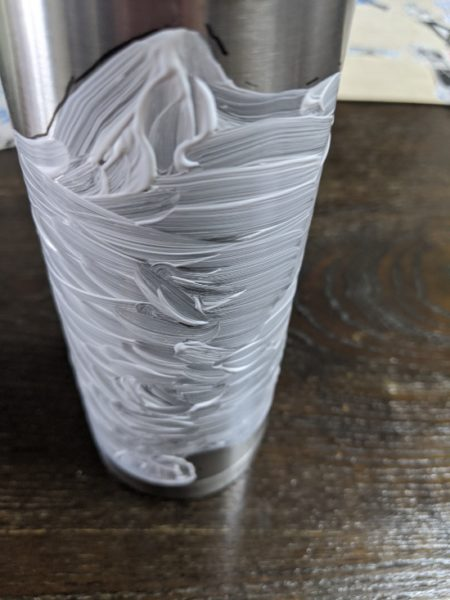 ステンレス水筒,デコパージュ,失敗,写真