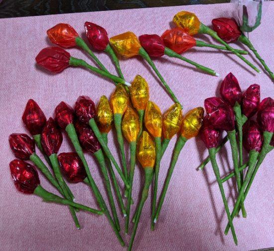 ばらまきお菓子,ホワイトデー,バレンタインデー,かわいい,チョコ,子供,キスチョコのお花
