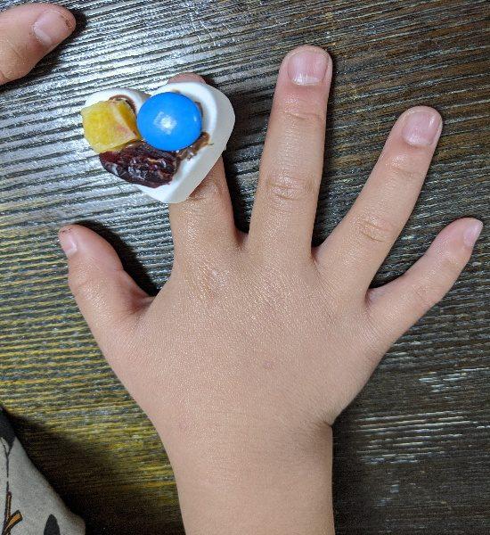 マシュマロお菓子作り、食べられるハートの指輪、