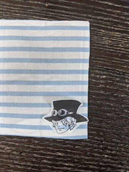 小学校名札の刺繍 裏側デコパージュ