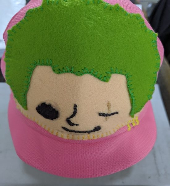 カラー帽子,デコ,フェルト,やり方,男の子,キャラクター,目立つ,ピンク