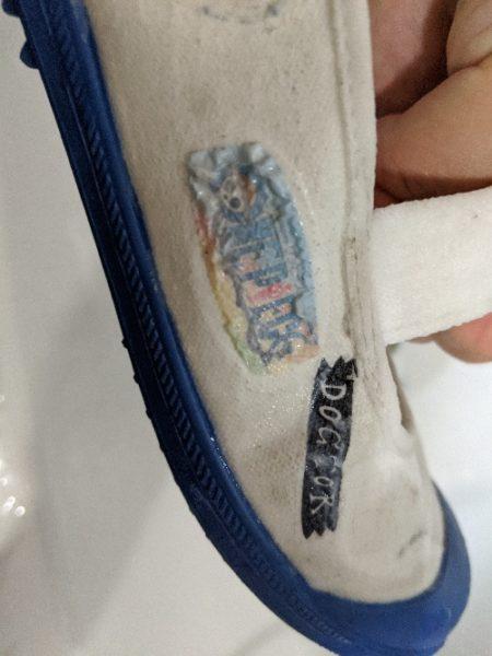 上靴デコ,失敗,イラスト,剥がし方