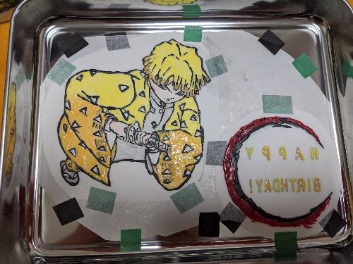 鬼滅の刃キャラチョコ,我妻善逸ケーキ