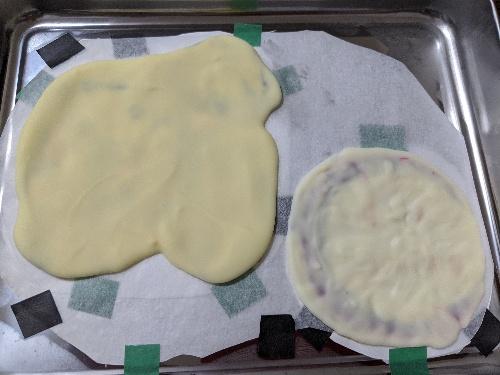 キャラチョコ,バーステーケーキ,作り方,仕上げ,ホワイトチョコ,鬼滅の刃,我妻善逸