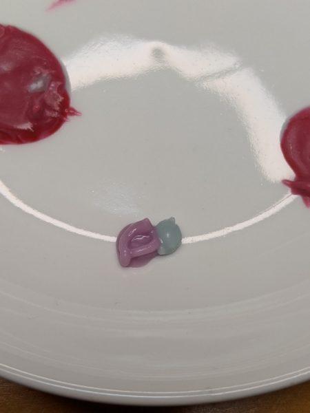 キャラチョコ紫,作り方,チョコペン,