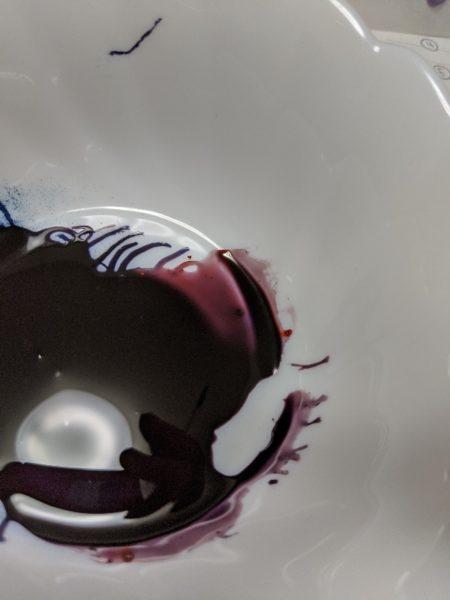 キャラチョコ紫,作り方,チョコペン,食紅
