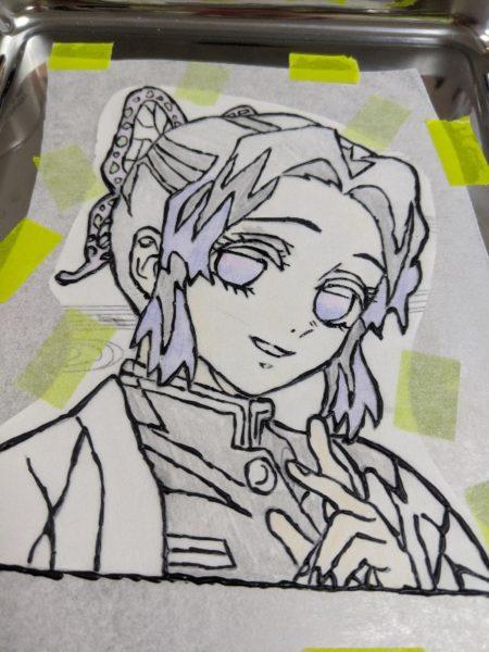 鬼滅の刃,胡蝶しのぶ,キャラケーキ,キャラチョコ,紫