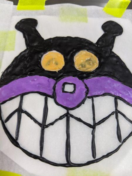 キャラチョコ紫,作り方,バイキンマン,食紅