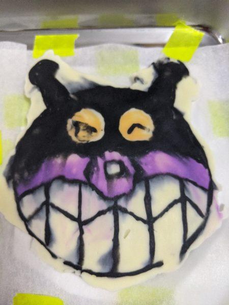 バイキンマン,キャラケーキ,キャラチョコ,紫
