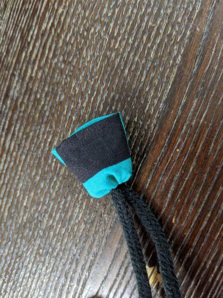 巾着の紐ほつれ止め,ループエンド,作り方,ハギレ