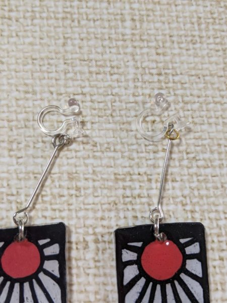 炭治郎耳飾り作り方,プラバン,100均,型紙,何センチ