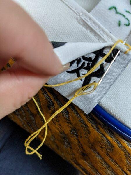 上履きデコ,刺繍,フリースティッチングニードル,鬼滅の刃