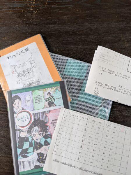 連絡帳袋,作り方,終わったカレンダーリメイク,100均,ラミネート生地