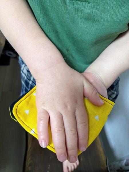 ハンカチ作り方,簡単,子供用,ハギレ,幼児