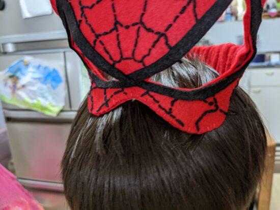 スパイダーマン,お面,手作り,子供,マスク
