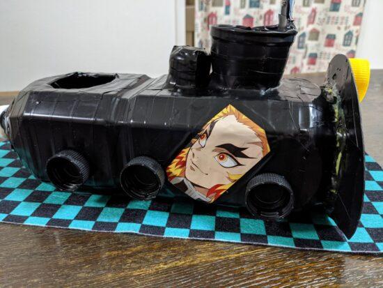 水遊びおもちゃ,手作り,ペットボトル,夏休み,自由研究,無限列車