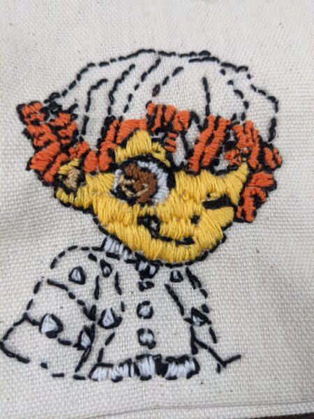 鬼滅の刃,刺繍,可愛い,お弁当袋,作り方,100均